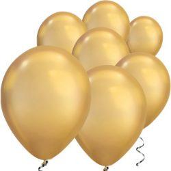 gold chrome balloon