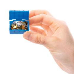 holding mini treasure chest