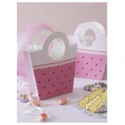 pink party handbag