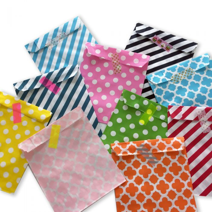 mixed paper party bags