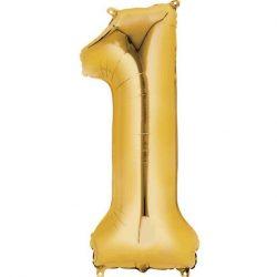 Gold 1 balloon