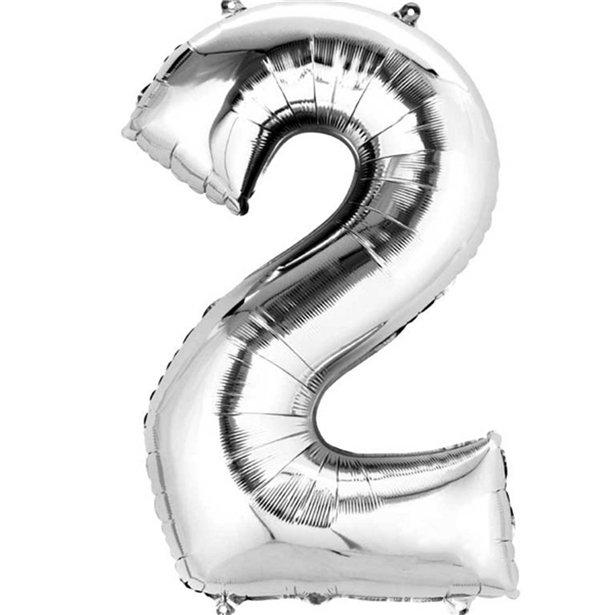 silver 2 balloon