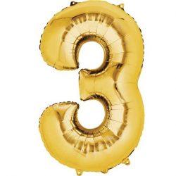 gold 3 balloon