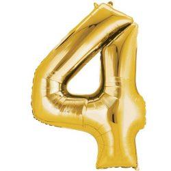 gold 4 balloon