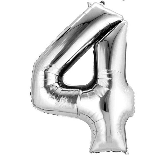 silver 4 balloon
