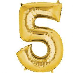 gold 5 balloon
