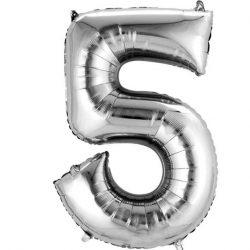 silver 5 balloon
