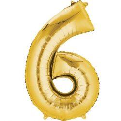 gold 6 balloon