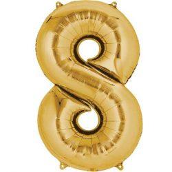 gold 8 balloon