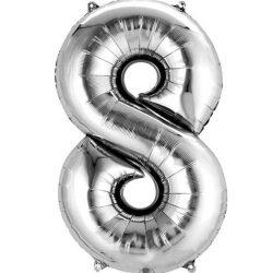 silver 8 balloon