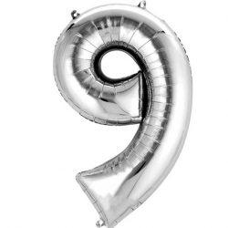 silver 9 balloon