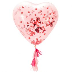 Heart Confetti Balloon