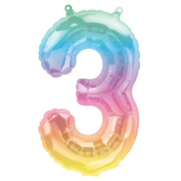 Rainbow Number Balloon 3