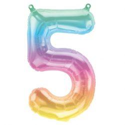 Rainbow Number Balloon 5