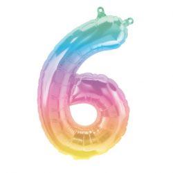 Rainbow Number Balloon 6