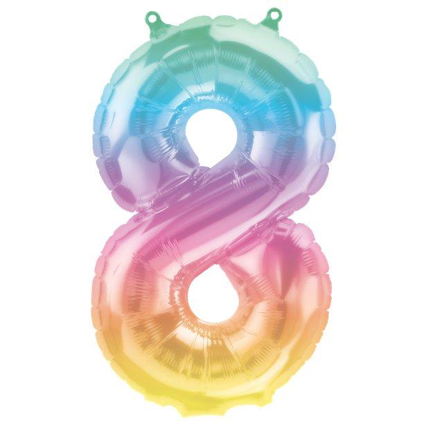 Rainbow Number Balloon 8