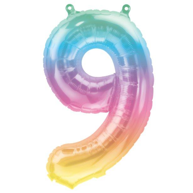 Rainbow Number Balloon 9
