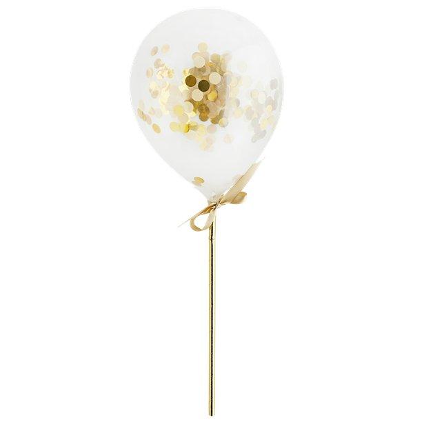 gold confetti balloon