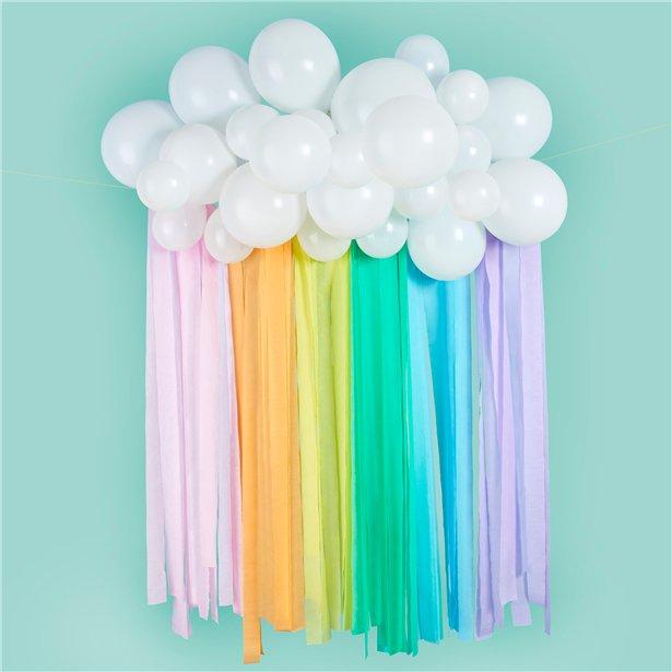Rainbow Balloon Clouds