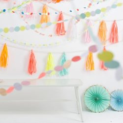 Bunting and Neon Tassels