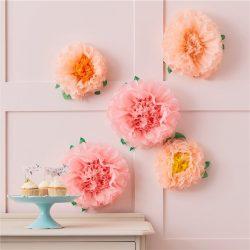 pastel flower decorations