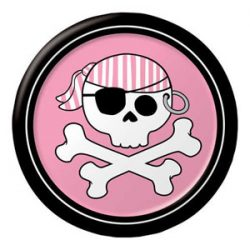 Pink pirate plate