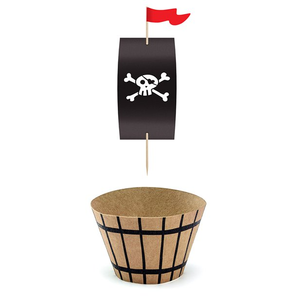pirate boat cupcake wrapper