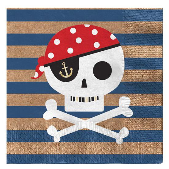 treasure island pirate napkin