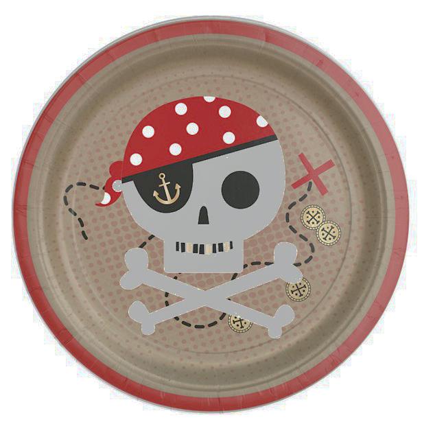 treasure island pirate plates