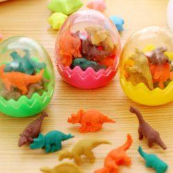 Dinosaur Egg Erasers