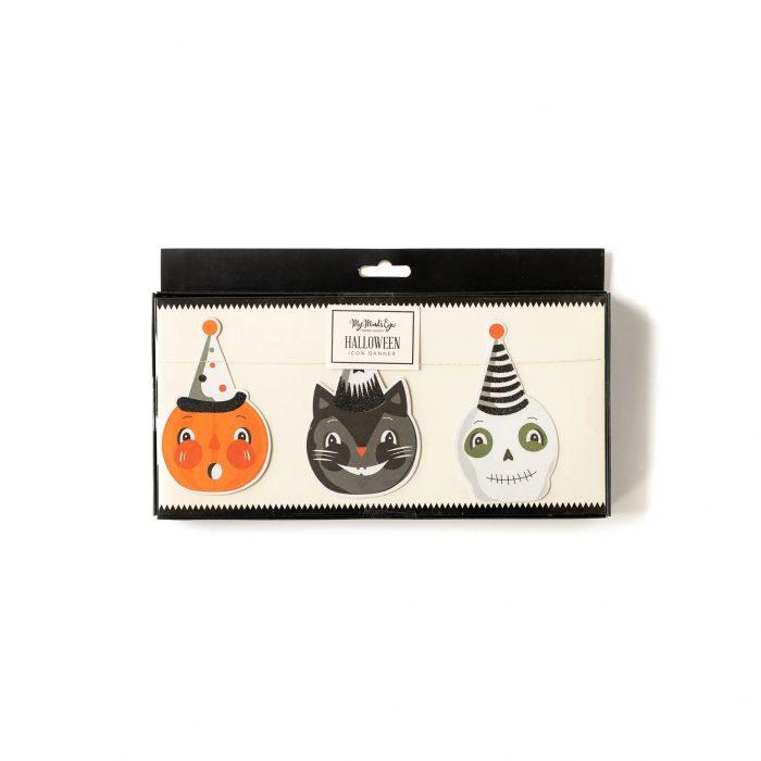 halloween faces garland