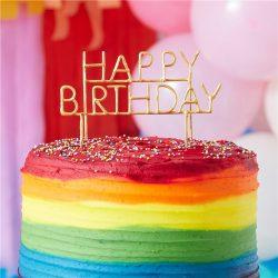 Happy Birthday Rainbow Cake