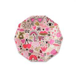 pink love plates