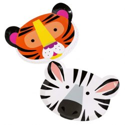 Safari animal plates