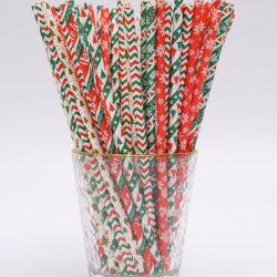 Christmas mix straws