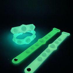 Glow in the dark popit wristband