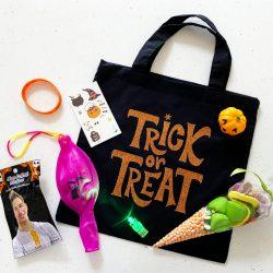 filled Halloween trick or treat bag