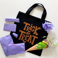 halloween trick or treat bag wrapped