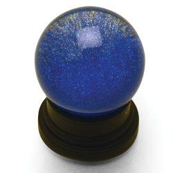 Blue Glitter Globe
