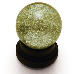 Silver glitter globe