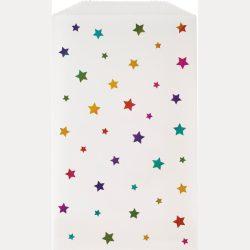 rainbow star paper bag